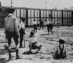 Sandlot baseball circa 1923