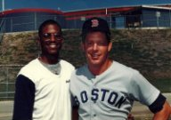 Dennis 'Oil Can' Boyd and Dave Holt at Spring Training Winter Haven Florida