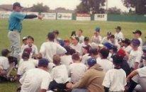 summer baseball camp throwing instruction