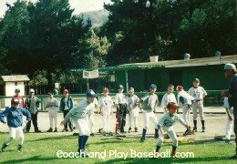 lead off base and stealing practice at summer baseball camp Carmel Valley, Ca