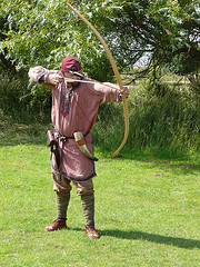 Bow and arrow throwing technique