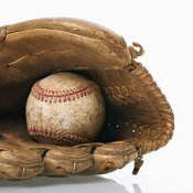 breaking in a new baseball glove