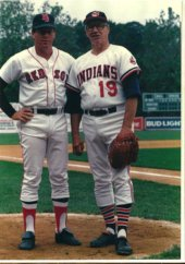 Dave Holt & Bob Feller New Britain Red Sox 1988