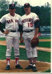 Dave Holt & Bob Feller New Britain Red Sox 1988
