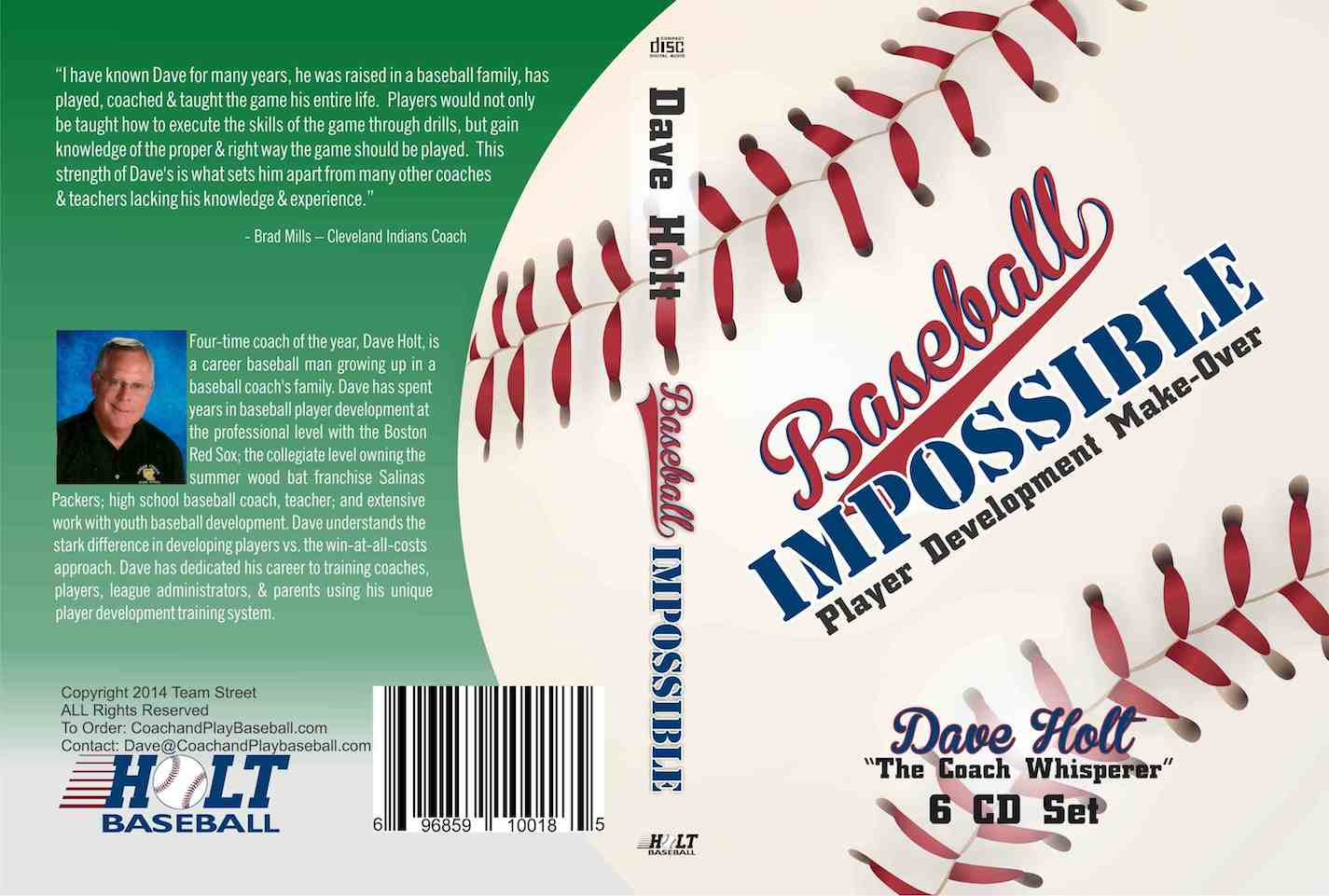 Baseball Impossible player development make over, coaching manual, tips and drills, practice planning, style, and approach.