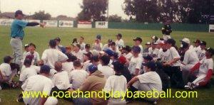 coaching kids baseball