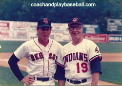 Hall of Famer Bob Feller with Dave Holt New Britain