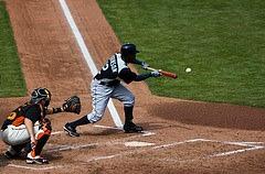 Bunting in baseball.