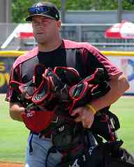 catcher with gear in catching tips