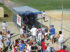 dugout parents support after baseball game