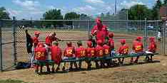 dugout coach players on the bench
