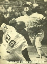 Shortstop Aparicio turning two on the doubleplay