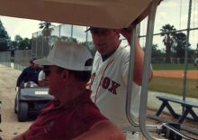 Eddie Kasko and Dave at Winter Haven Spring Training