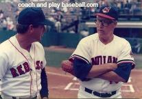 talking baseball pitching with HoF Bob Feller