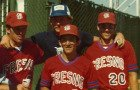 Fresno State Bulldogs 1979: Dave Holt, Ron Myers, Keith Snyder and John Oleary.