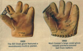 Baseball mitt and gloves become favorites for ballplayers