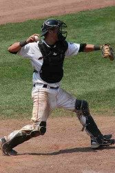 perfect throwing position for catchers