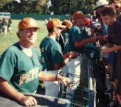 Dave Holt coach and play baseball manager of Salinas Peppers 1995