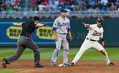 Stolen base vs the Dodgers